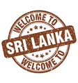 welcome to Sri Lanka vector image vector image
