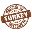 welcome to turkey brown round vintage stamp vector image vector image