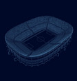 wireframe stadium isometric view stadium vector image vector image
