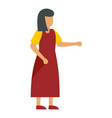 woman in red dress icon flat style vector image