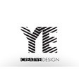 ye y e lines letter design with creative elegant vector image vector image