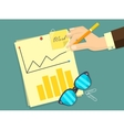 Business man document signing up contract vector image