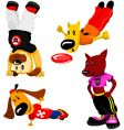 sporty dogs vector image
