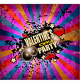 Valentines Day party flyer background vector image