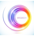 Abstract colorful circle frame vector image vector image