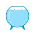 aquarium empty isolated glass vessel with water vector image