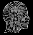 artificial intelligence the image of human head vector image