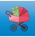 baby shower icon design vector image vector image