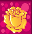 background of a rose vector image vector image