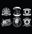 badge design collection of nautical concept vector image