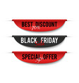 black friday sale special price labels sale vector image vector image