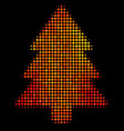 bright pixel fir-tree icon vector image