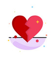broken love heart wedding business logo template vector image vector image