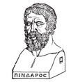 bust of pindar vintage vector image vector image