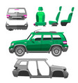 car service parts flat auto mechanic repair of vector image vector image