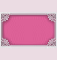 chinese rectangle frame on pink pattern oriental vector image vector image