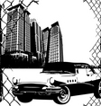 city and sport car vector image vector image