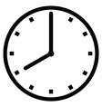Clock 8 vector image vector image
