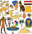collection egypt icons vector image