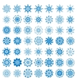 collection elegante stylish snowflakes isolated vector image vector image