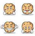 collection sweet cookies character cartoon set vector image vector image