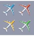 Color Airplane Set vector image vector image