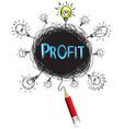 concept pencil idea isolate write blue profit vector image vector image