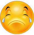 crying smiley emoticon vector image vector image