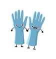 cute cartoon gloves character vector image vector image