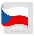 Czech Republic flag vector image