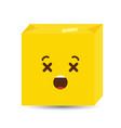 dead emoji icon design vector image