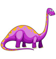 Dinosaur with long neck vector image vector image