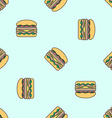 double hamburger colored seamless pattern vector image vector image