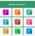 drink and cup icon part i vector image vector image