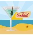 enjoy cocktail martini beach sun beach vector image
