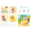 flat travel colorful composition vector image vector image