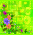 flowers on abstract background vector image vector image