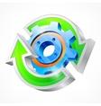 Gear with round arrows vector image vector image