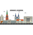 germany schwerin city skyline architecture vector image vector image