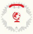 globe symbol icon vector image