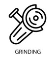 grinding icon outline style vector image