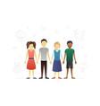 group children flat character design vector image