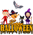 happy halloween with little kid the nature and the vector image vector image