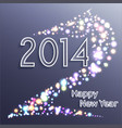 happy new year 2014 horse celebration background vector image vector image