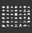 hat icon set grey vector image vector image