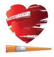 Heart and brush