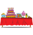 holiday table vector image vector image
