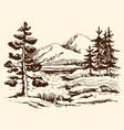 landscape sketch canada vector image vector image