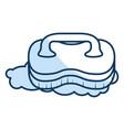 laundry brush isolated icon vector image