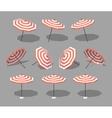 Low poly sun umbrella vector image vector image